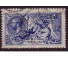 SG411. 1915 De La Rue 10/- Deep (intense) bright blue. Fantastic