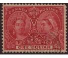 SG136. 1897 $1 Lake. Super well centred...