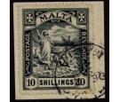 SG96. 1919 10/- Black. Brilliant fine well centred used...