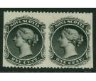 SG18a. 1863 1c Black 'Imperforate Vertical' Horizontal Pair...