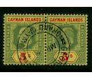 SG32. 1908 5/- Green and red/yellow. Brilliant fine used...