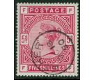 SG180. 1883 5/- Rose. Brilliant fine used with...