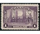 SG O130. 1939 $1 Violet. Brilliant fresh U/M mint...
