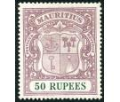 SG222. 1924 50r Dull purple and green. Superb fresh well centred