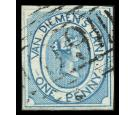 SG2. 1853 1d Blue. Superb fine used...