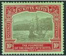 SG58. 1923 10/- Black and red/emerald. Very fine fresh well sent