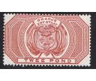 SG F14. 1882 £2 Red-brown. Postal Fiscal. Superb fresh mint...