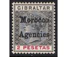 "SG16b. 1899 2p Black and carmine. Broad top to ""M"". Beautiful fr"
