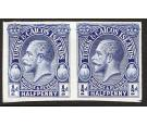 1928. 1/2d Imperforate Plate Proof in Blue. Brilliant fresh pair