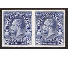 1928. 2/- Imperforate Plate Proof in Blue. Brilliant fresh pair.