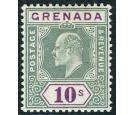 SG76.1906 10/- Green and purple. Superb fresh well centred mint.