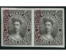 1859 12 1/2c Plate Proof pair in black on India paper...