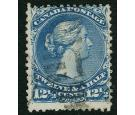 SG60b. 1868 12 1/2c Bright blue. 'Watermarked'. Very fine used..