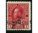 SG265 Variety. 2c on 3c Carmine. 'Overprint Double, One Inverted