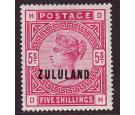 SG11. 1892 5/- Rose. Choice mint copy with beautiful...