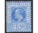 SG64a. 1906 15c Ultramarine. 'Dented Frame'. Superb fresh perfec
