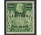 SG E10a. 1948 2sh50c on 2/6 'Misplaced stop'. U/M mint.