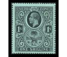 SG124w. 1912 1/- Black/green. 'Watrmark Inverted'. Superb mint..