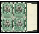 "SG O7a. 1943 1/2d Black and green. 'OFFICIAL' Stop after ""OFFISI"