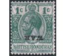 SG114a. 1916 1c Green. 'Overprint Inverted'. Brilliant fresh min
