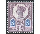 SG207. 1887 5d Dull purple and blue (Die 1). Brilliant fresh...