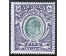 SG40. 1903 5/- Grey-green and violet. Brilliant fresh mint...