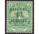 SG2. 1900 1d on 1/2d Green. Very fine well centered mint...