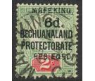 SG8. 1900 6d on 2d Green and carmine. Superb used...