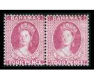 SG35. 1876 4d bright rose. Superb fresh mint pair...