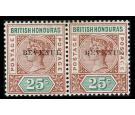 SG68a. 1899 25c Red-brown and green. 'BEVENUE' for 'REVENUE'. Su