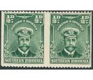 SG1c. 1924 1/2d Blue-green. 'Horizontal Pair, Imperforate Betwee