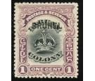 SG11a. 1906 1c Black and purple. 'Black Overprint'. Choice super