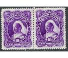 SG74b. 1898 10/- Bright violet. Very fine mint pair...