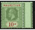 SG204d. 1922 10r Green and red on emerald/emerald back. Brillian