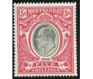 SG23. 1903 5/- Black and scarlet. Very fine fresh well centred m