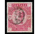 SG180. 1884 5/- Rose. Superb well centred used...