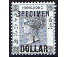 SG53as. 1898 $1 on 96c Grey-black. 'SPECIMEN'. Superb fresh mint