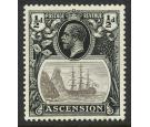 SG10b. 1924 1/2d Grey-black and black. 'Torn Flag'. U/M mint...