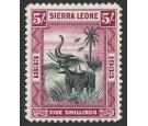 SG178. 1933 5/- Black and purple. Superb fresh well centred...