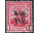 SG178ba. 1917 1d Scarlet. 'Overprint Double'. Very fine used...