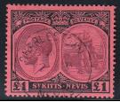 SG36. 1922 £1 Purple and black/red. Superb fine used...