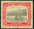 SG59. 1923 5/- Black and red/pale yellow. Brilliant fresh perfec