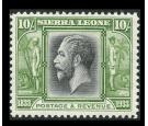 SG179. 1933 10/- Black and sage-green. Brilliant fresh mint...