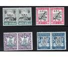 SG50-53. 1933 Set of 4. Brilliant U/M mint pairs...
