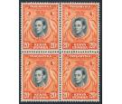 SG139ba. 1951 20c Deep black and deep orange. U/M block...