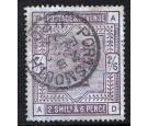 SG179a. 1886.  2/6 Deep lilac  'Blued Paper'. Superb well centre