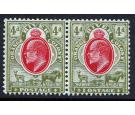 "SG150a. 1907 4d Scarlet and sage-green. ""IOSTAGE"" Variety..."