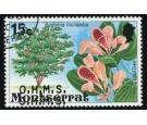SG O30a. 1980 15c Multicoloured (Orchid tree). 'Overprint Double