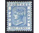 SG1. 1875 1d Blue. Very fine well centred unused...