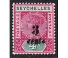 SG15b. 1893 3c on 4c 'Surcharge Double'. Superb fresh well centr
